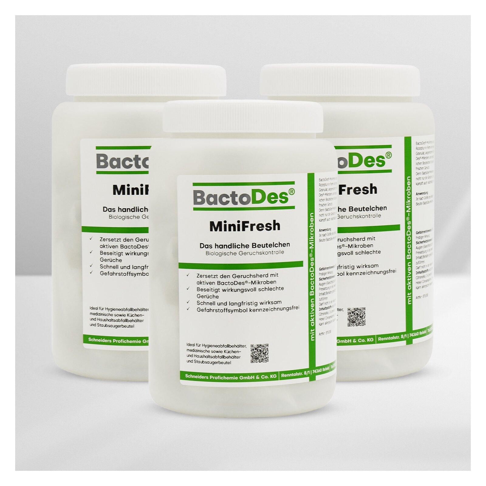 BactoDes-MiniFresh Geruchsneutralisierer-Säckchen Bundle 3x20 Stück.