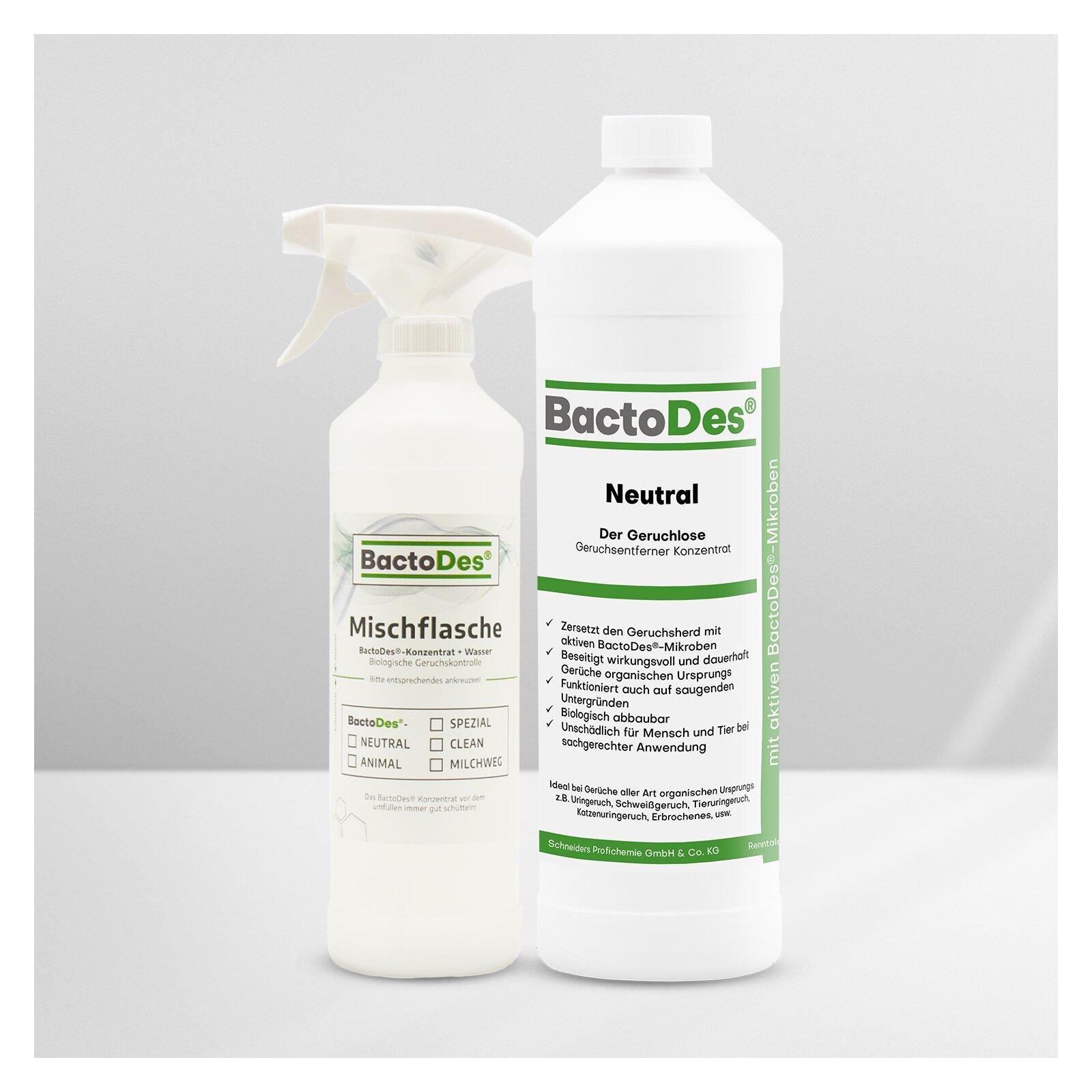 BactoDes-Neutral Geruchskiller und Geruchsneutralisierer ohne Parfümierung