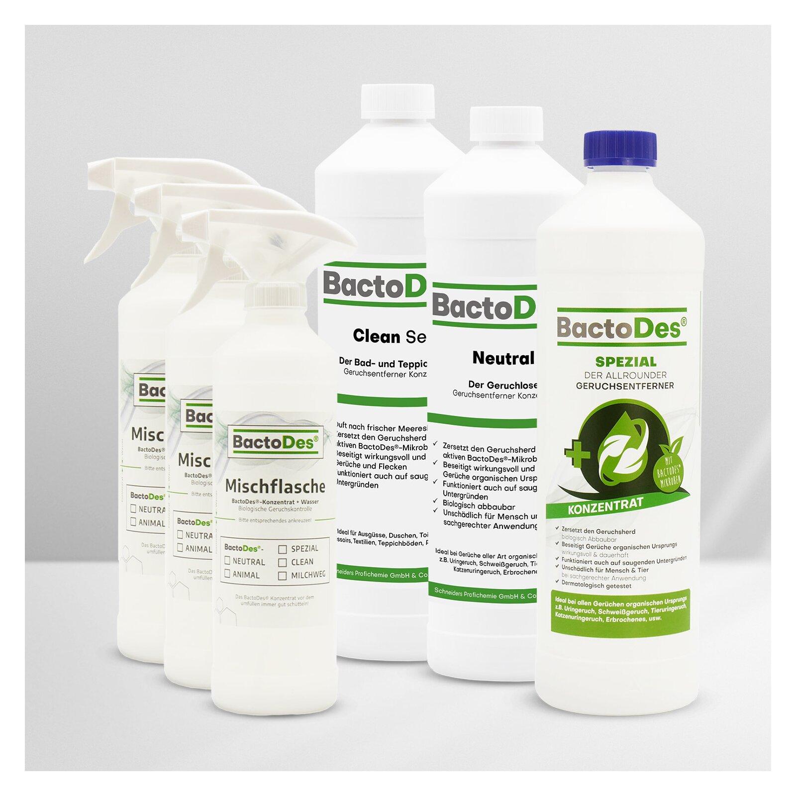 BactoDes-3-er-Set 'Clean-Spezial-Neutral' incl. 3 Misch- und Sprühflaschen